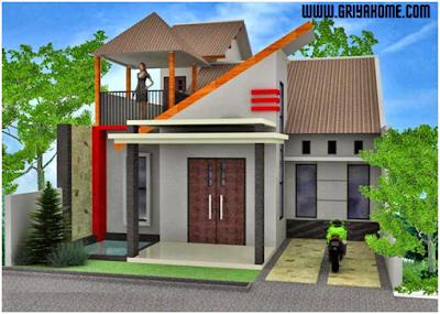 Desain Rumah 2 Lantai Tipe 36