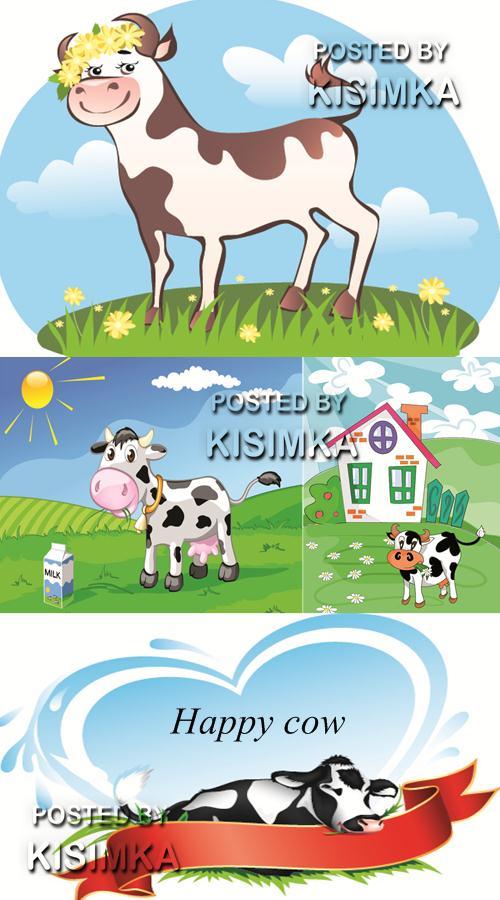 Stock: Happy cow
