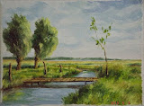 Karsiborska kępa, olej, płótno, 18x24 cm