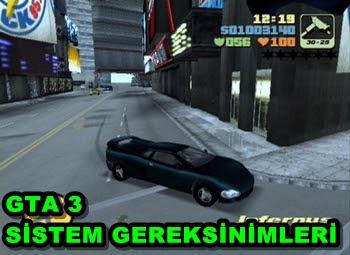 GTA (III)3 PC Sistem Gereksinimleri