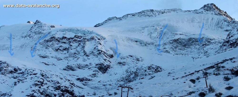 Avalanche Haute Maurienne, secteur Albaron, Glacier Supérieur du Vallonnet - Photo 1