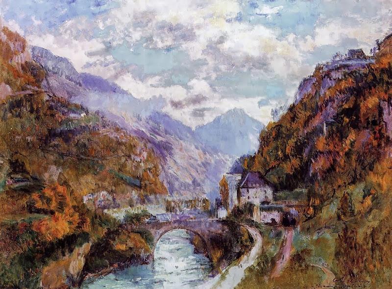 Albert Lebourg - The Rhone at Saint-Maurice, Valais