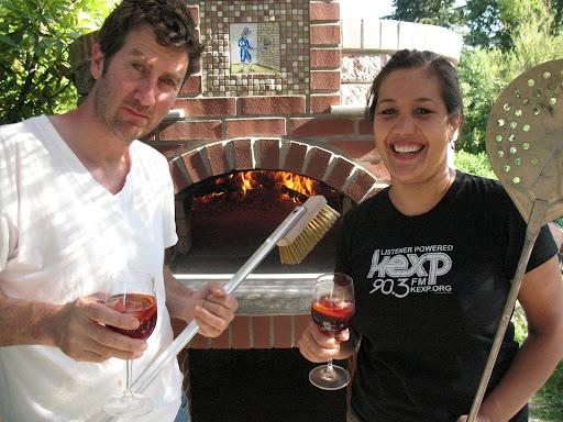 Jerry Corso and Gina Tolentino, at home [courtesy Gina T]