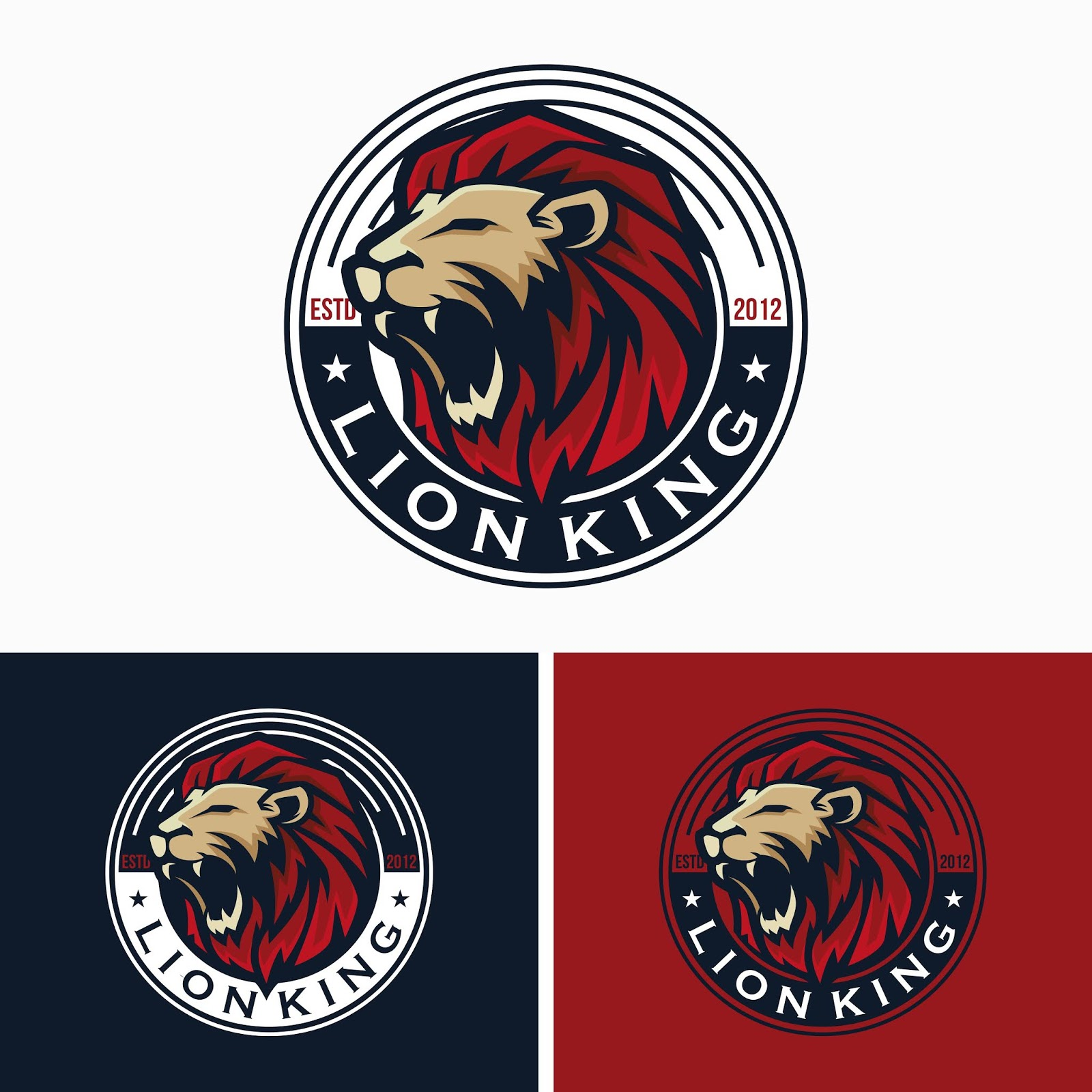 Creative Lion Logo Templates.jpg Free Download Vector CDR, AI, EPS and PNG Formats
