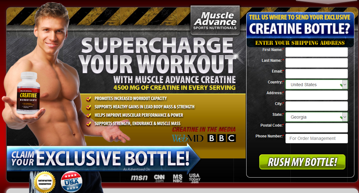 muscle advance creatine review