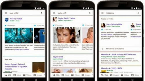Google mostrará resultados de Twitter en móviles