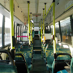het interieur van de volvo van Connexion bus 5654