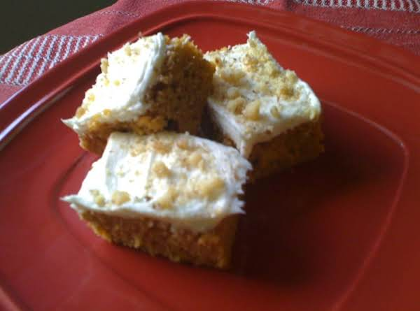 Butter (not Oil) Pumpkin Bars With Cream Cheese Frosting