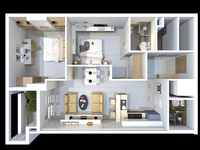 căn hộ D4 chung cư TDH Phước Long