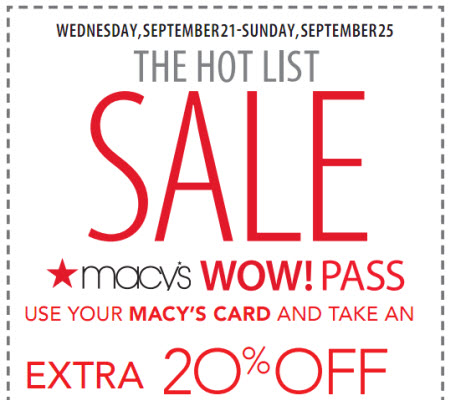 Macy's Coupon Apparel 20% Off