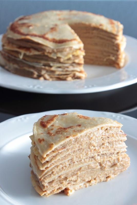 Pastel de crêpes a la crema de café (Mille crêpes)