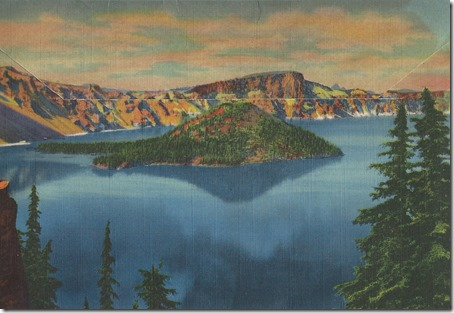 Crater Lake Postcards Back