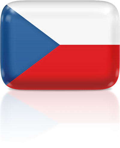 Czech flag clipart rectangular