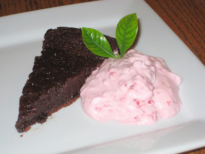 Gluten Free Chocolate Cake with Raspberry Whip Cream
