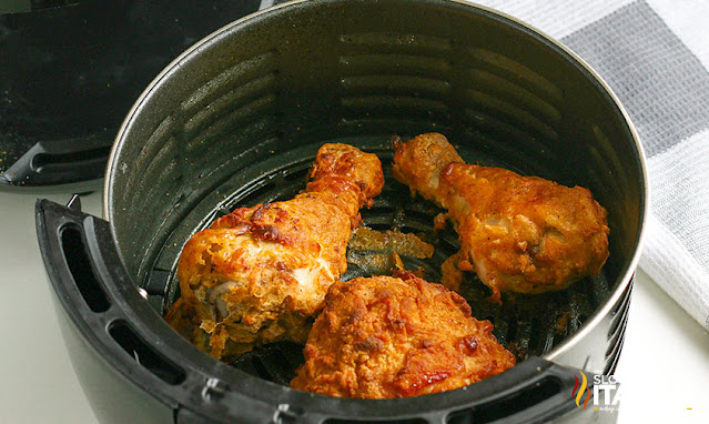 Air Fried Chicken cooked in the air fryer