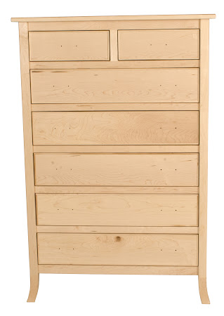 "36"" x 70"" Strafford Vertical Dresser in Natural Hard Maple, without Hardware"
