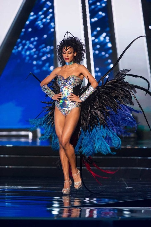 Raissa Santana, Miss Brazil 2016 debuts her National Costume on stage at the Mall of Asia Arena on Thursday, January 26, 2017.  The contestants have been touring, filming, rehearsing and preparing to compete for the Miss Universe crown in the Philippines.  Tune in to the FOX telecast at 7:00 PM ET live/PT tape-delayed on Sunday, January 29, live from the Philippines to see who will become Miss Universe. HO/The Miss Universe Organization