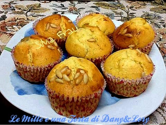 muffin mele, pinoli e cannella