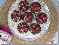Tortini al cioccolato e lamponi