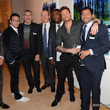 WWW.ENTSIMAGES.COM -     Boy Band Blue V I P Guest at     Clifford Chance Annual Pride Art Exhibition - London organised by Arcus to celebrate Gay Pride London and New York July 2nd 2013                                                  Photo Mobis Photos/OIC 0203 174 1069
