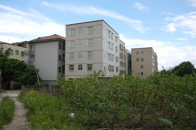 newer apartment buildings in Beishan Village, Zhuhai, China
