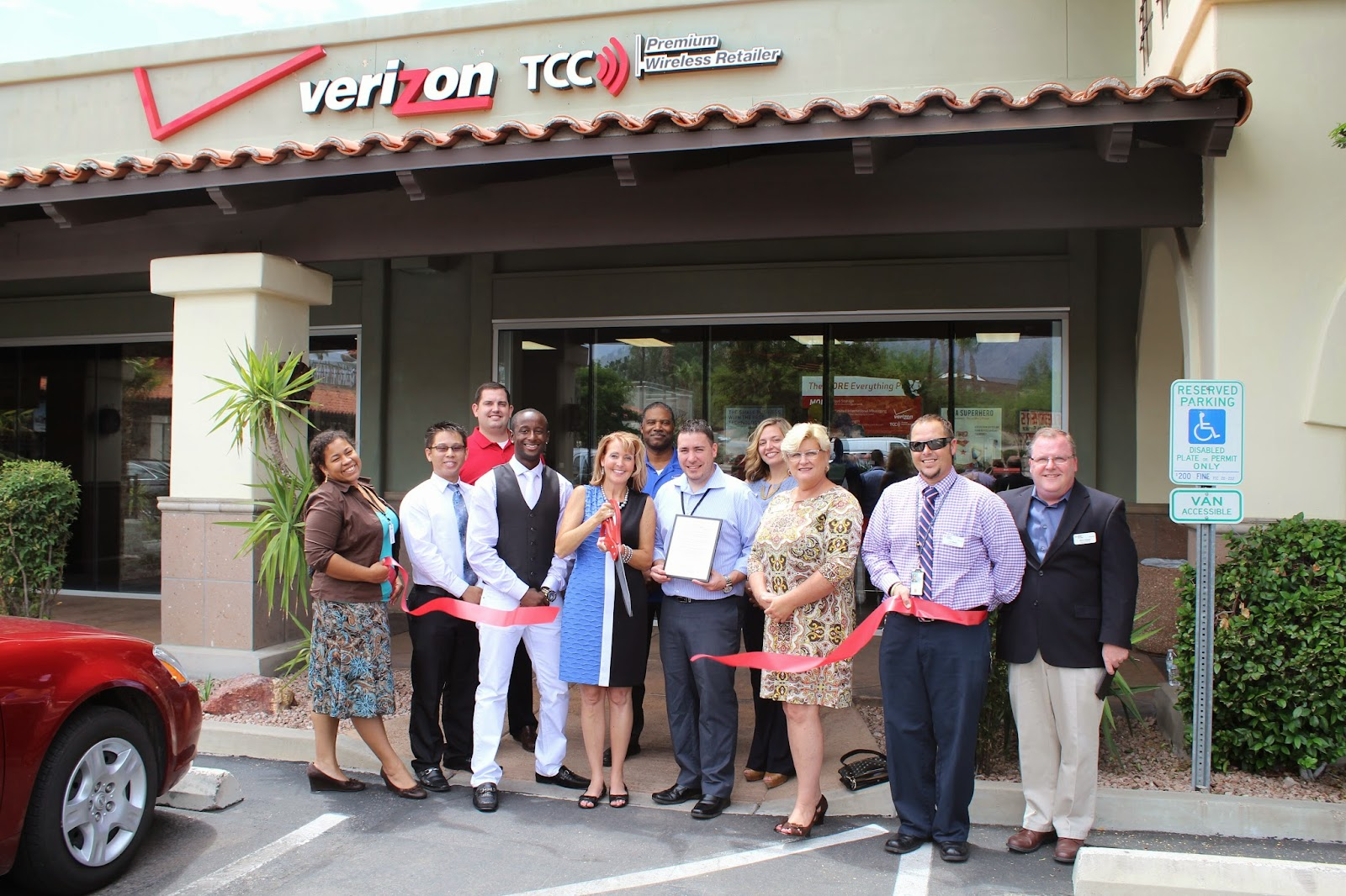 Grand opening for The Cellular Connection, local Verizon premium wireless retailer.