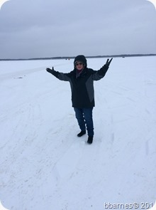 Betty on Lake Bemidji 01022018