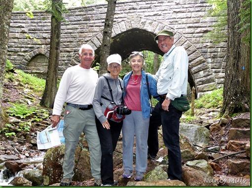 2017-6-17 25j Maine - Rainy - Hike  to Carriage Road Bridges & Waterfall - Hemlock Bridge 1924