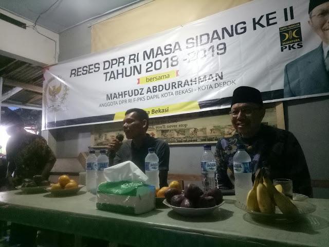 Ngopi Bareng Dan KongKow Seputar Bekasi Mahfudz Abdurrahman Adakan Reses Tahun Ke-II 2018