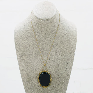 14 K Gold Scrying Necklace