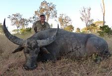 Gilbert Narvaez, USA with his 2nd buffalo taken at Carmor Plains.