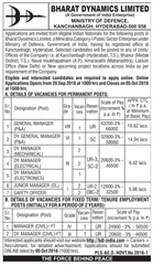 BDL India Recruitment 2016 www.indgovtjobs.in