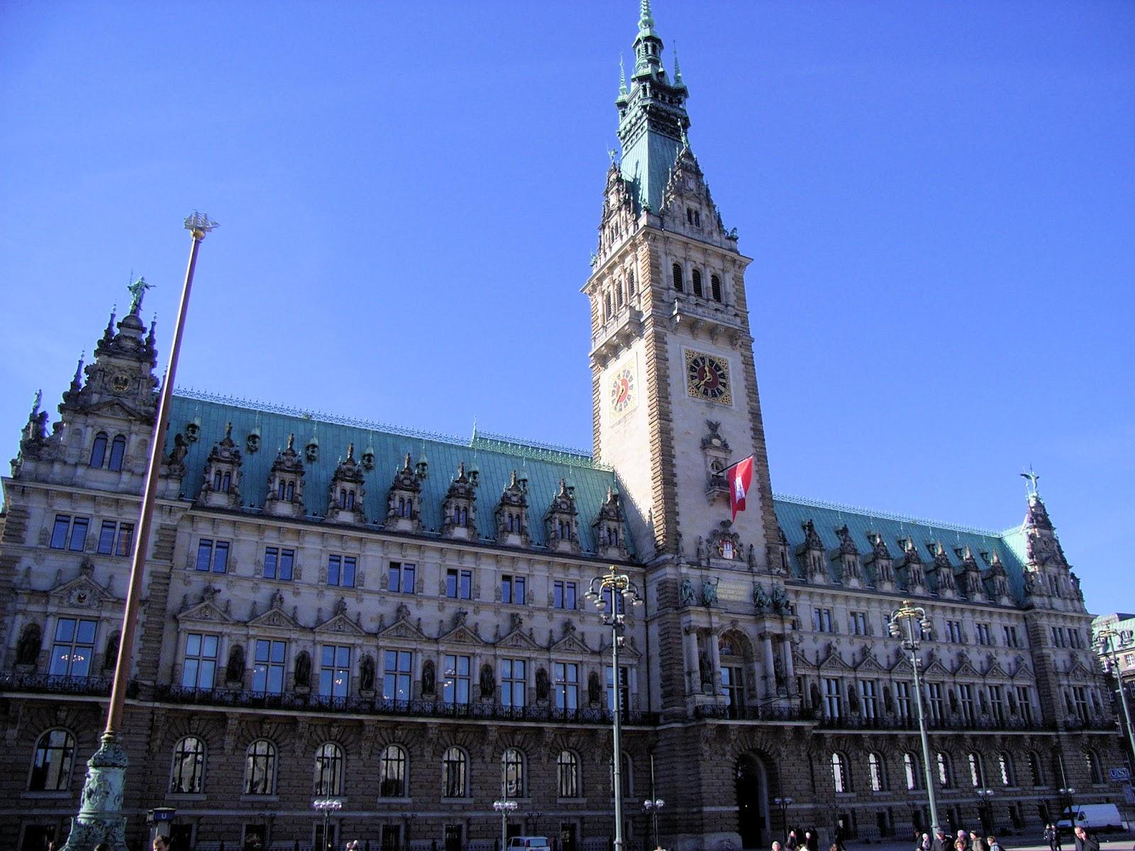 Bilder Bibliothek Wahrzeichen Von Hamburg Das Rathaus