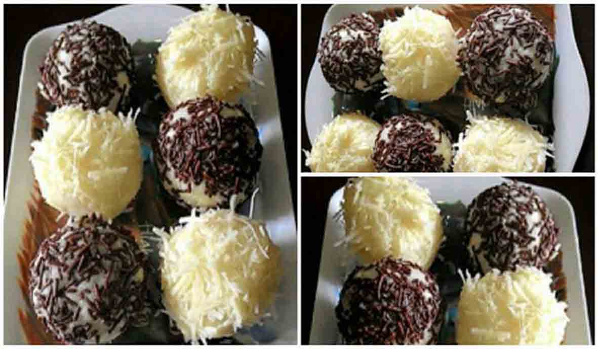 Singkong ini ternyata dapat di olah menjadi banyak sekali masakan ringan Resep Bola Bola Singkong Cokelat Keju Mudah Cepat dan Enaaaak!
