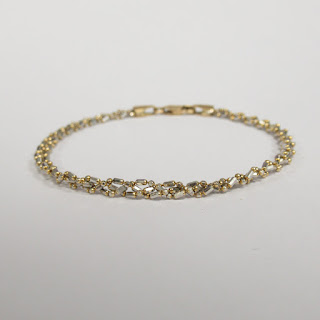 14K Yellow and White Gold Braclet