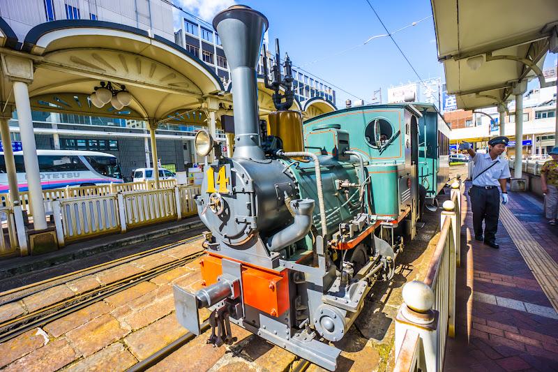 Botchan train, Matsuyama City station