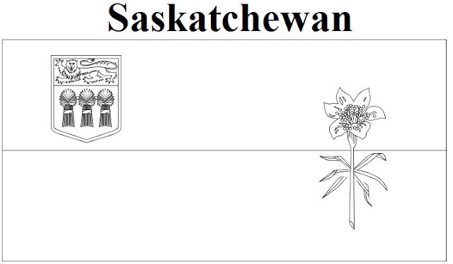 Saskatchewan Flag Coloring Page