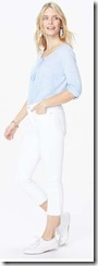 NYDJ Capri Jeans in white stretch