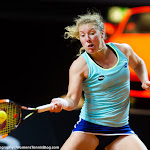 STUTTGART, GERMANY - APRIL 18 : Anna-Lena Friedsam in action at the 2016 Porsche Tennis Grand Prix