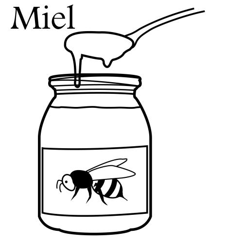 Miel dibujo - Imagui