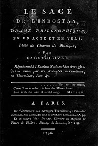 Cover of Fabre d'Olivet's Book Le Sage de L'Indostan (1796,in French)