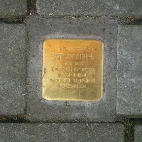 Nathan Cohen - Beltstraat 28a - Stolperstein Enschede.