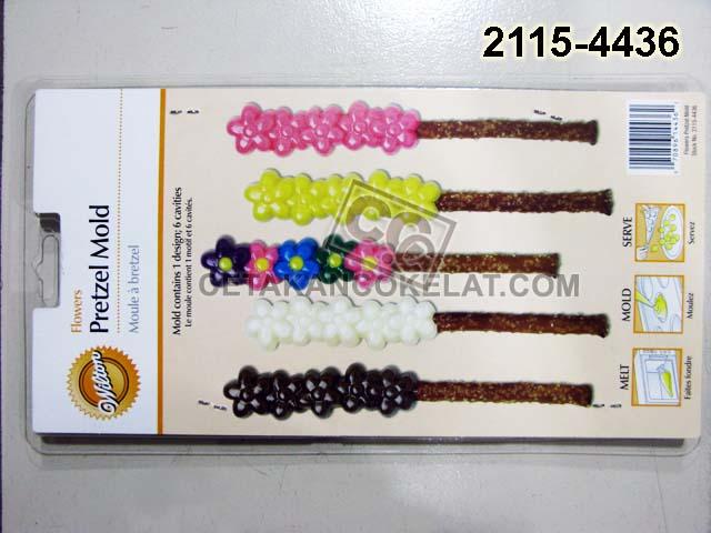 Cetakan Coklat 2115-4436 Flowers cokelat wilton bunga pretzel
