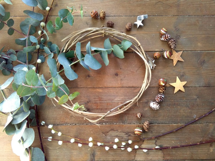 winter wreath making