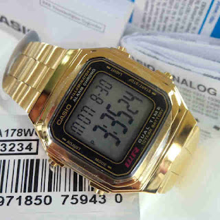 Jam Tangan Casio original A178WA full gold