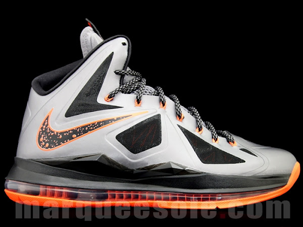 Fresh New Look at Nike LeBron X in Silver Black and Orange