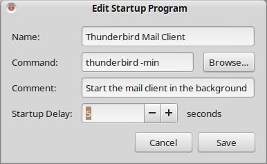 Thunderbird Startup Launcher