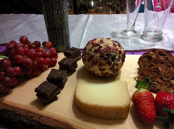 Elephant Island Stellaport with Chocolate & Cheese Tray