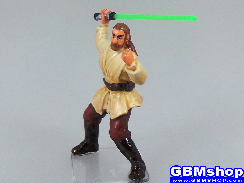 star wars miniature Imperial Assault Qui Gon Jinn Jedi Weapon Master #28 Champions of the Force Star Wars Miniatures Custom Customize and Painting