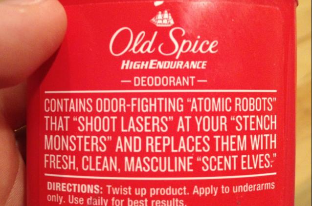old spice deodorant.